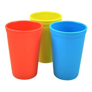Drinking Cups in Primary - Red, Yellow and Sky Blue