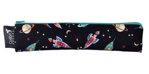 Colibri Wide Reusable Snack Bag in Rockets
