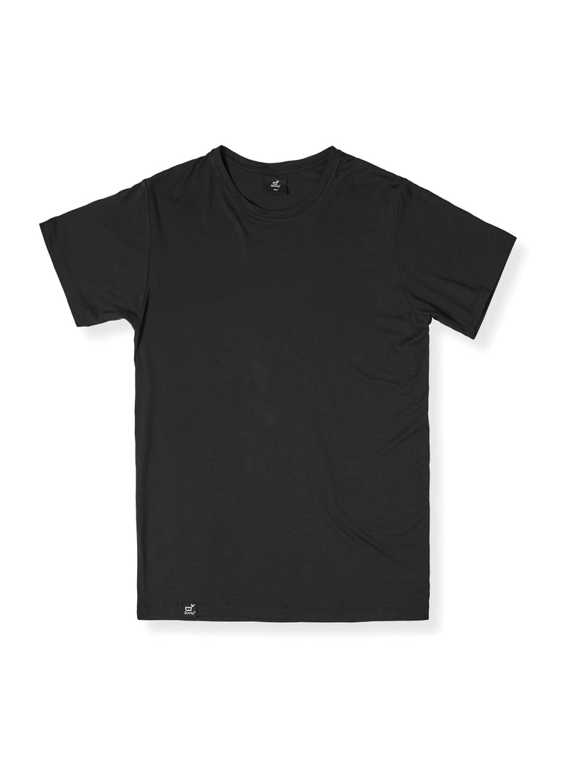 Crew Neck T-Shirt Mens Black