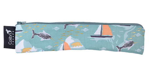 Colibri Wide Reusable Snack Bag in Narwhals