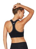 Racerback Sports Bra in Black/Silver