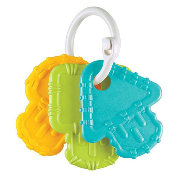 3 Teething Keys - Aqua, Green, Sunny Yellow