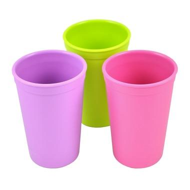 Drinking Cups in Butterfly - Lime Green, Bright Pink and Purple