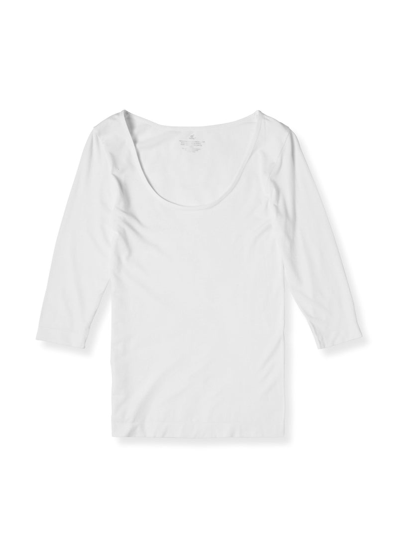 Scoop Neck Top White