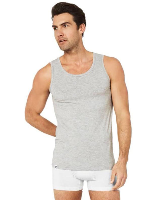 Mens Tank Light Grey