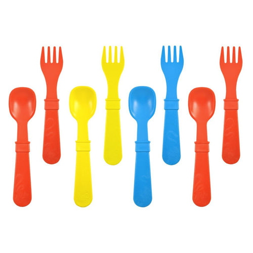 Utensils in Primary - Red, Yellow and Sky Blue