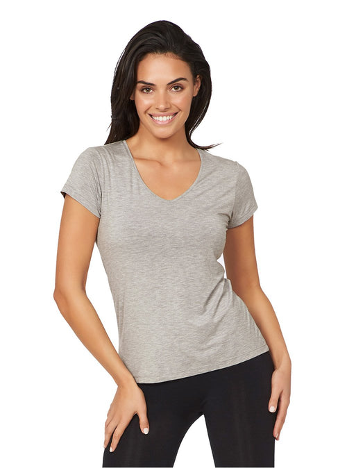 V-Neck T-Shirt Light Grey/Marle