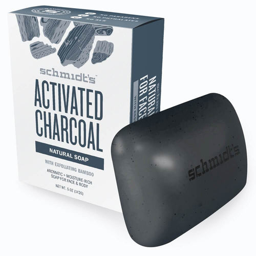 Bar Soap -  Activated Charcoal with Exfoliating Bamboo