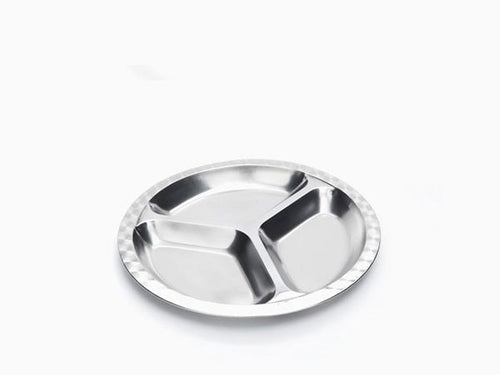 Small Round Divided Plate