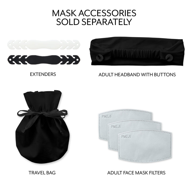 Weddingstar Adult Reusable, Washable 3 Ply Cloth Face Mask With Filter Pocket - Black
