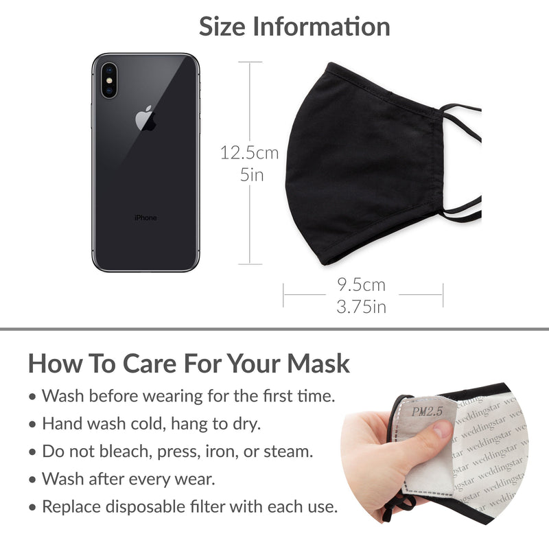 Reusable Non-medical 3 Layer Fabric Face Covering With Filter Pocket For Child - Zodiak