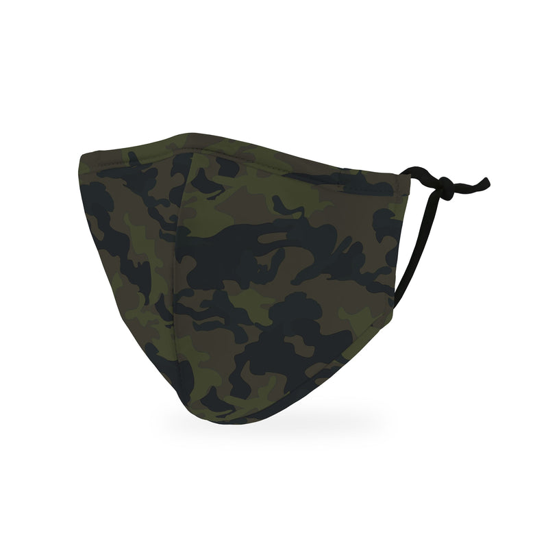 Reusable Non-medical 3 Layer Fabric Face Covering With Filter Pocket For Child - Camo
