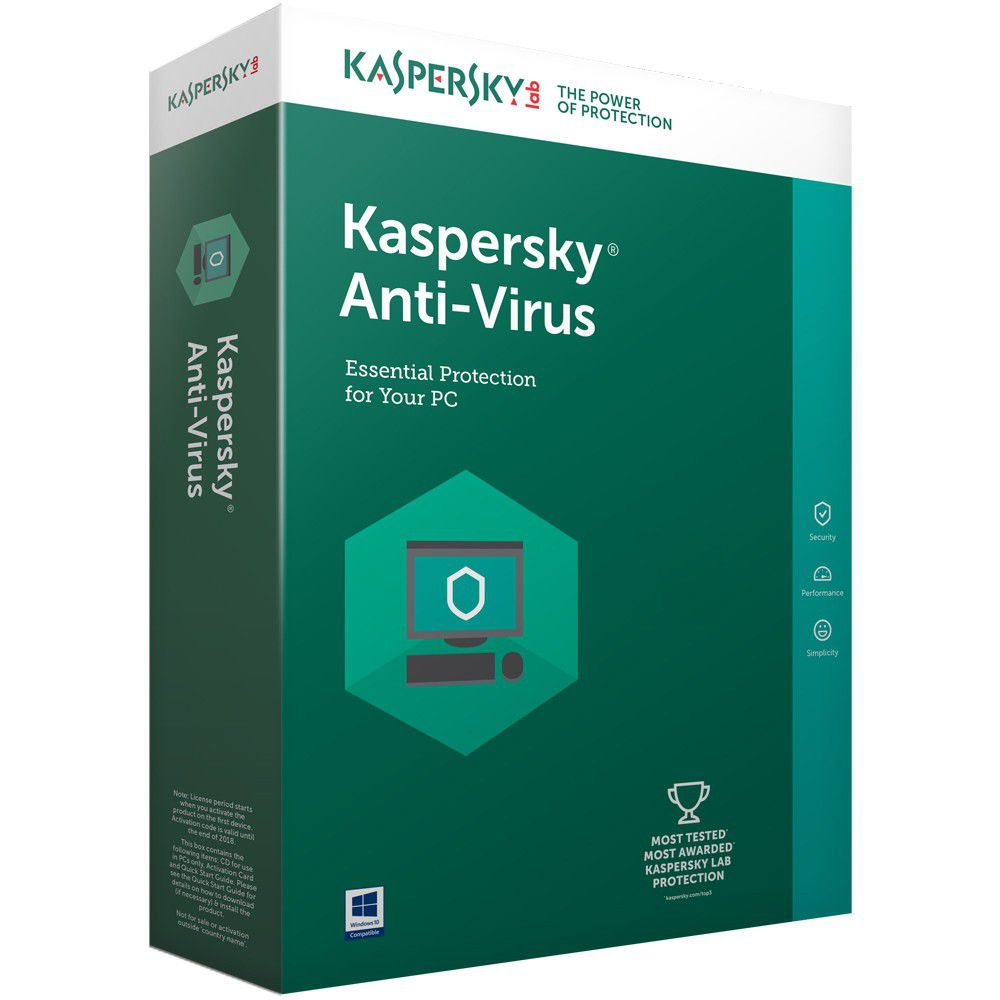Kaspersky Anti-Virus 1PC + 1 Free User - Dool-X IT Republic