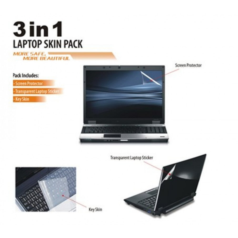 Universal 3 In 1 Laptop Protector - Skin, Screen And Keyboard - Dool-X IT Republic