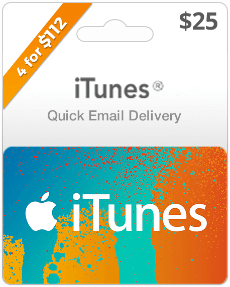 iTunes Gift Card - $25 Email . Delivery - Dool-X IT Republic
