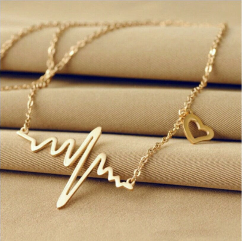 ECG Heartbeat Necklace - Dool-X IT Republic