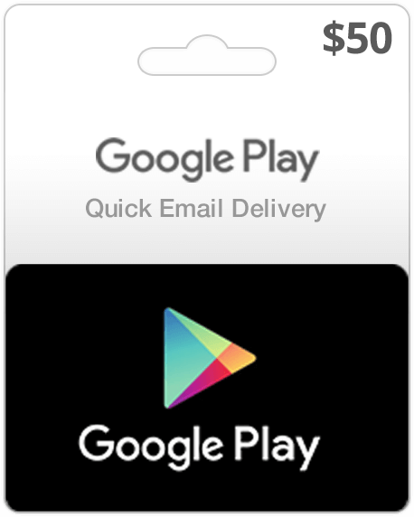 Google Play Card - $50 (Email Delivery) - Dool-X IT Republic