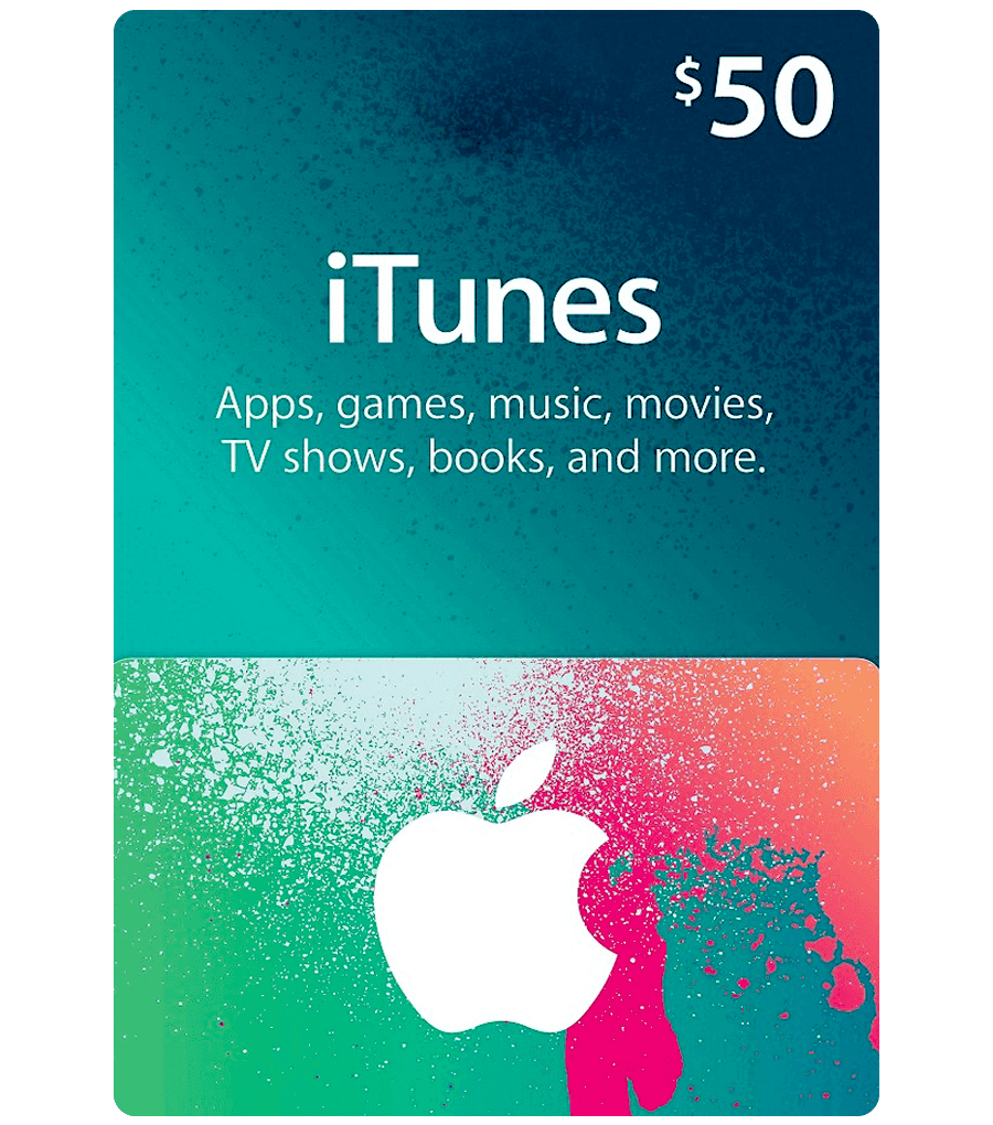iTunes Gift Card - $50 Email Delivery - Dool-X IT Republic