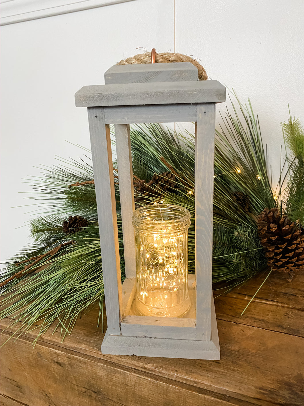 Wooden Lantern With Candle