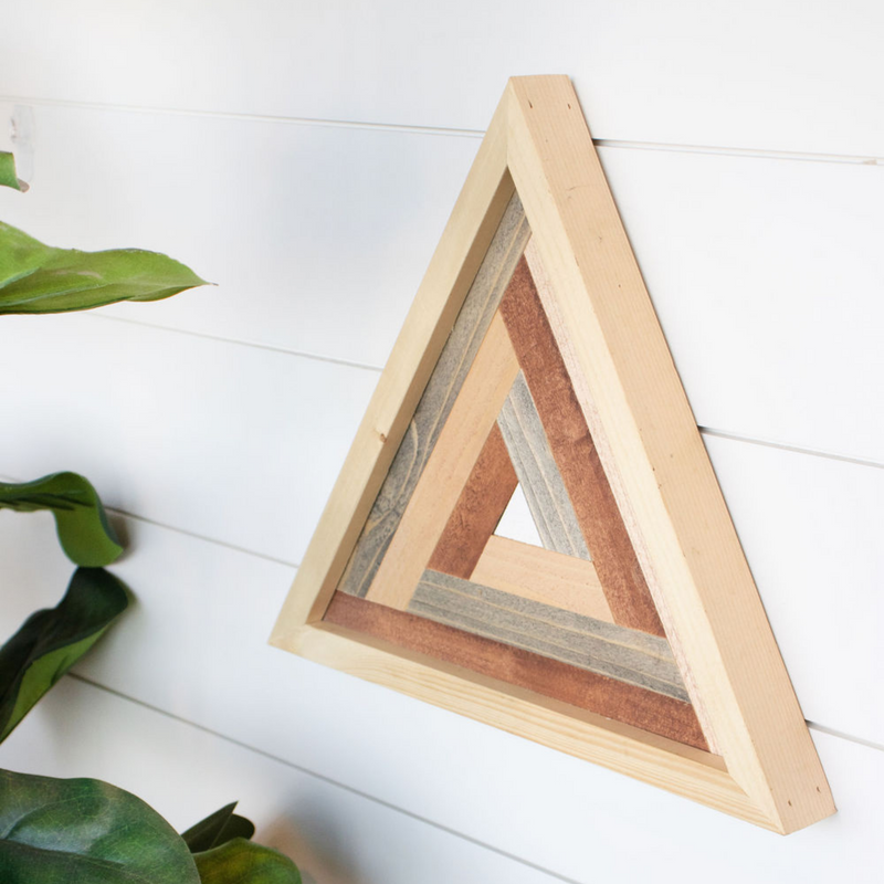 Wooden Triangle Art
