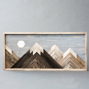 Wooden Moon Mountain  Scene