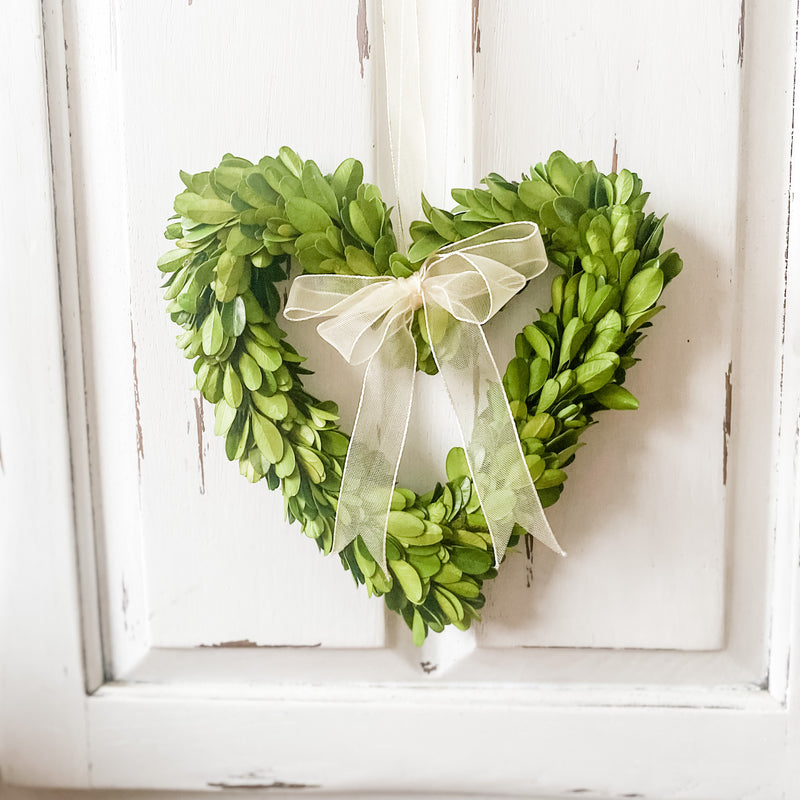 Boxwood Heart Wreath