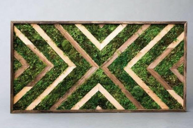 Chevron Moss Art