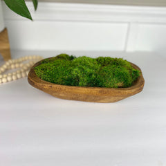 Moss Dough Bowl Centerpiece