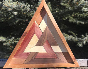 Odin Wooden Triangle Boho Wall Art