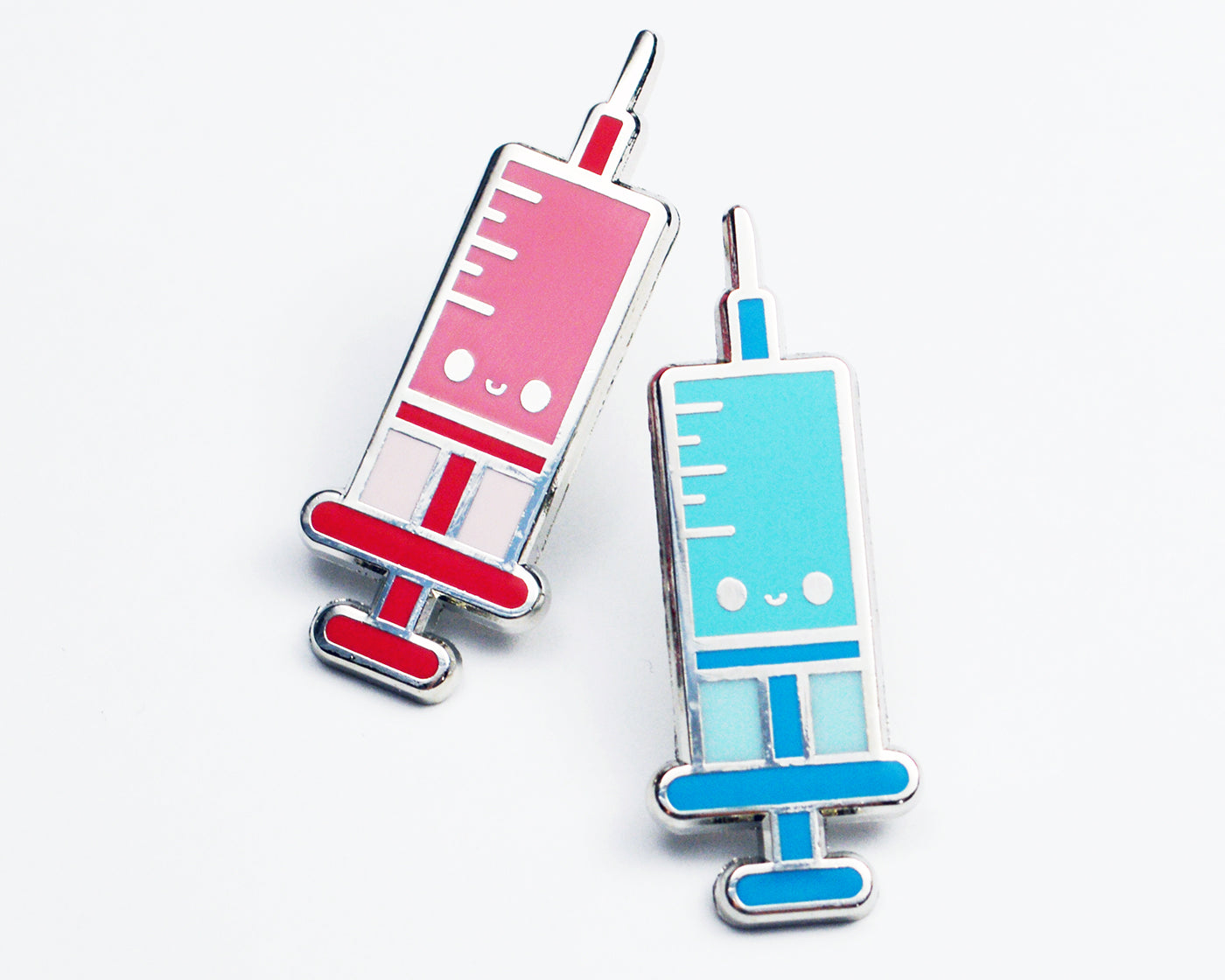Syringe Enamel Pin, Phlebotomist, Nurse, Doctor, Pediatrics, Medical, Phlebotomy Tech, Blood, Cute, Lanyard, Brooch, Gift, Graduation, Pink - roocharms