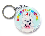 Alpaca Your Wounds Keychain