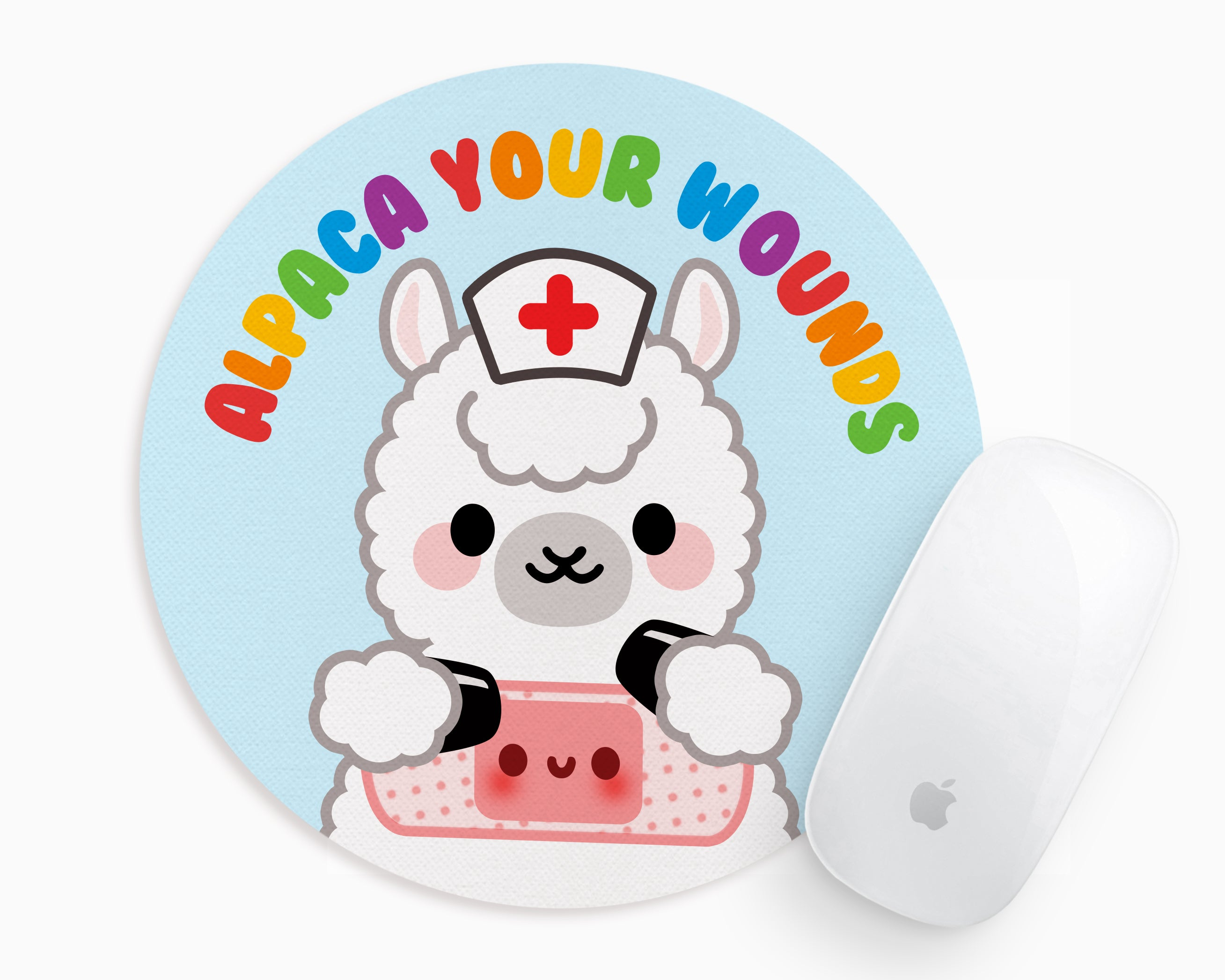 Alpaca Your Wounds Mouse Pad