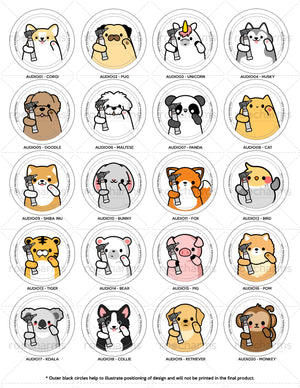 Audiology Animals Interchangeable Charm