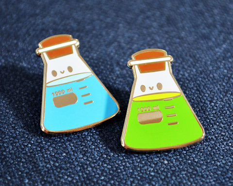 Beaker Enamel Pin, Chemistry Pin, Lab Gift, Researcher, Science Pin, Flask Pin, Cute Enamel Pin, Graduation Gift, MLS, MLT, Chemistry Gift - roocharms