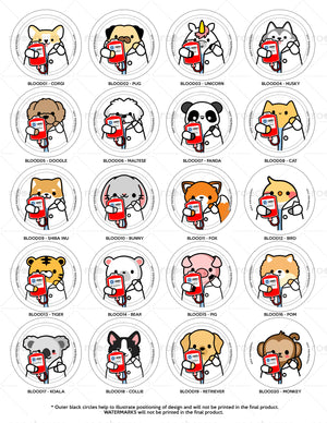 Blood Bag Animals Interchangeable Charm