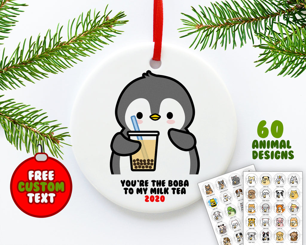 Bubble Tea Animals Ornament