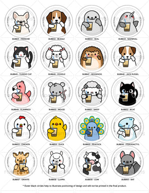 Boba Animals Interchangeable Charm