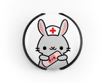Bunny Stethoscope Tag, Pediatric Stethoscope Tag, Pediatric Nurse Gift, Veterinarian Gift, Rabbit Stethoscope Tag, Stethoscope ID tag - roocharms