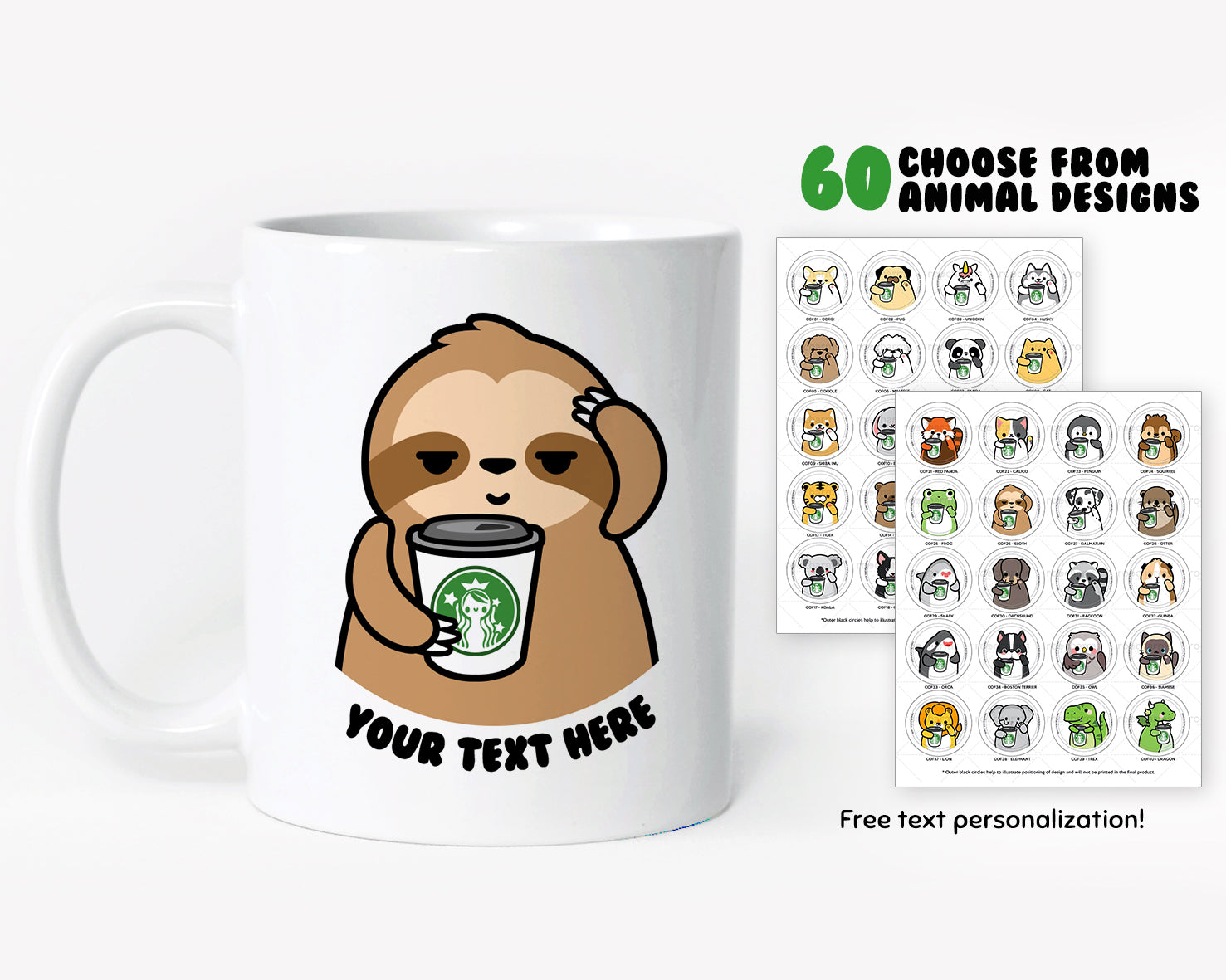 Boba Animals Coffee Mug