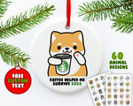 Coffee Animals Ornament