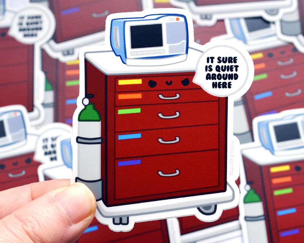 Crash Cart Vinyl Sticker