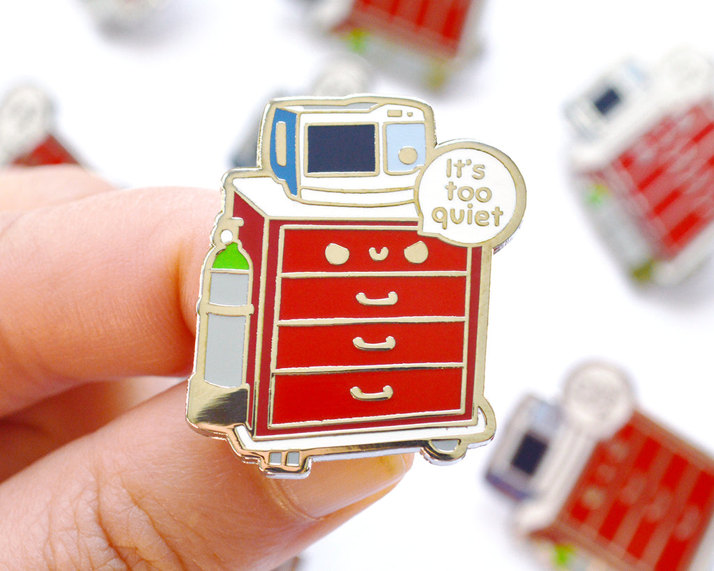 Crash Cart Enamel Pin
