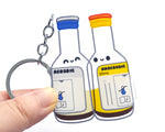 Blood Culture Bottles Keychain