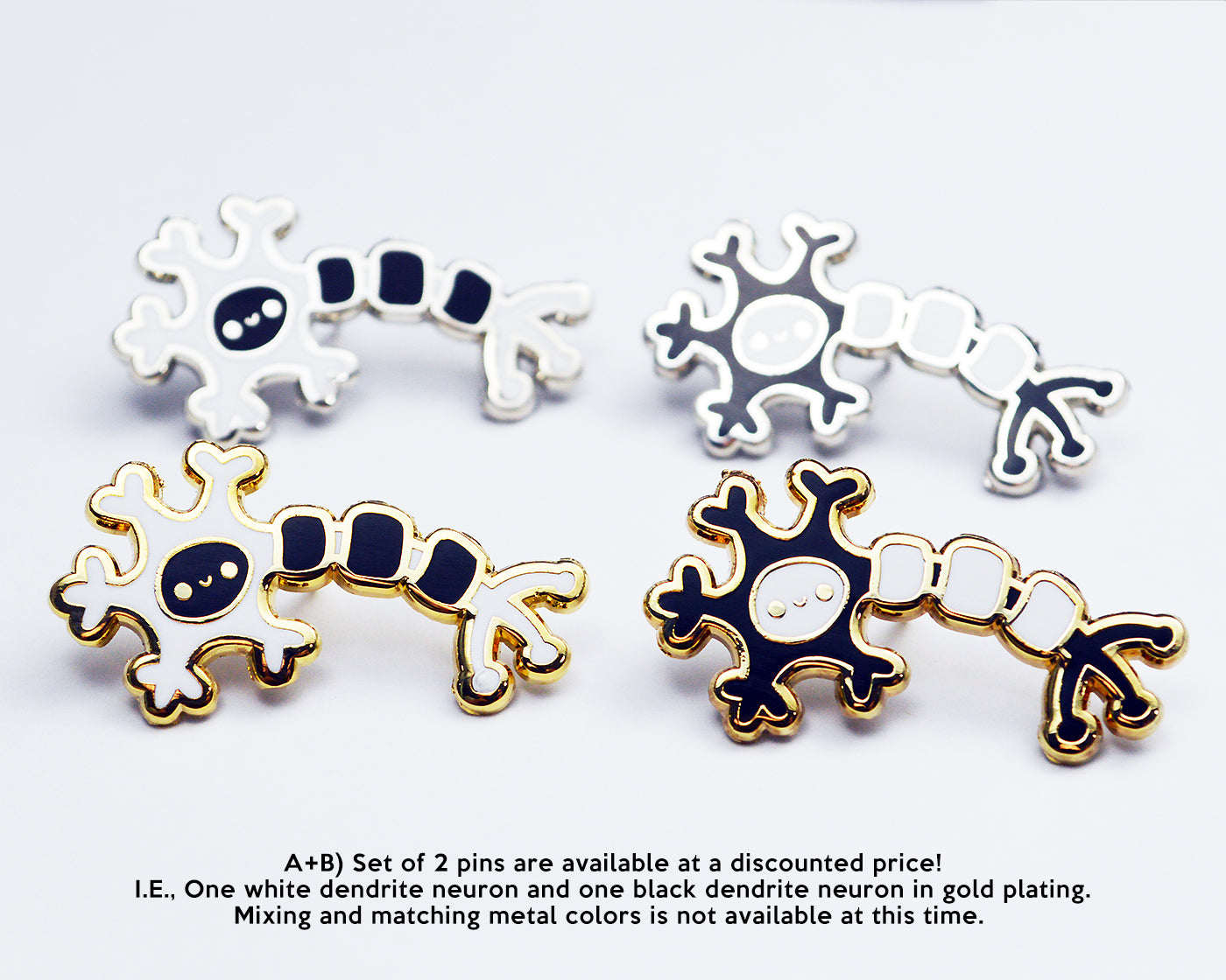 Medical Nerve Cell Brooch Pin,Personalized Neuron Tissue Molecular Gene Modeling Brooch Pin for Medical Scientist Gifts