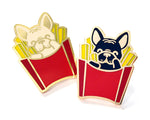 Frenchie Fries Enamel Pin