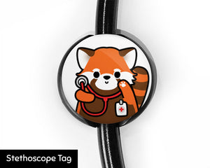 Red Panda Stethoscope Tag