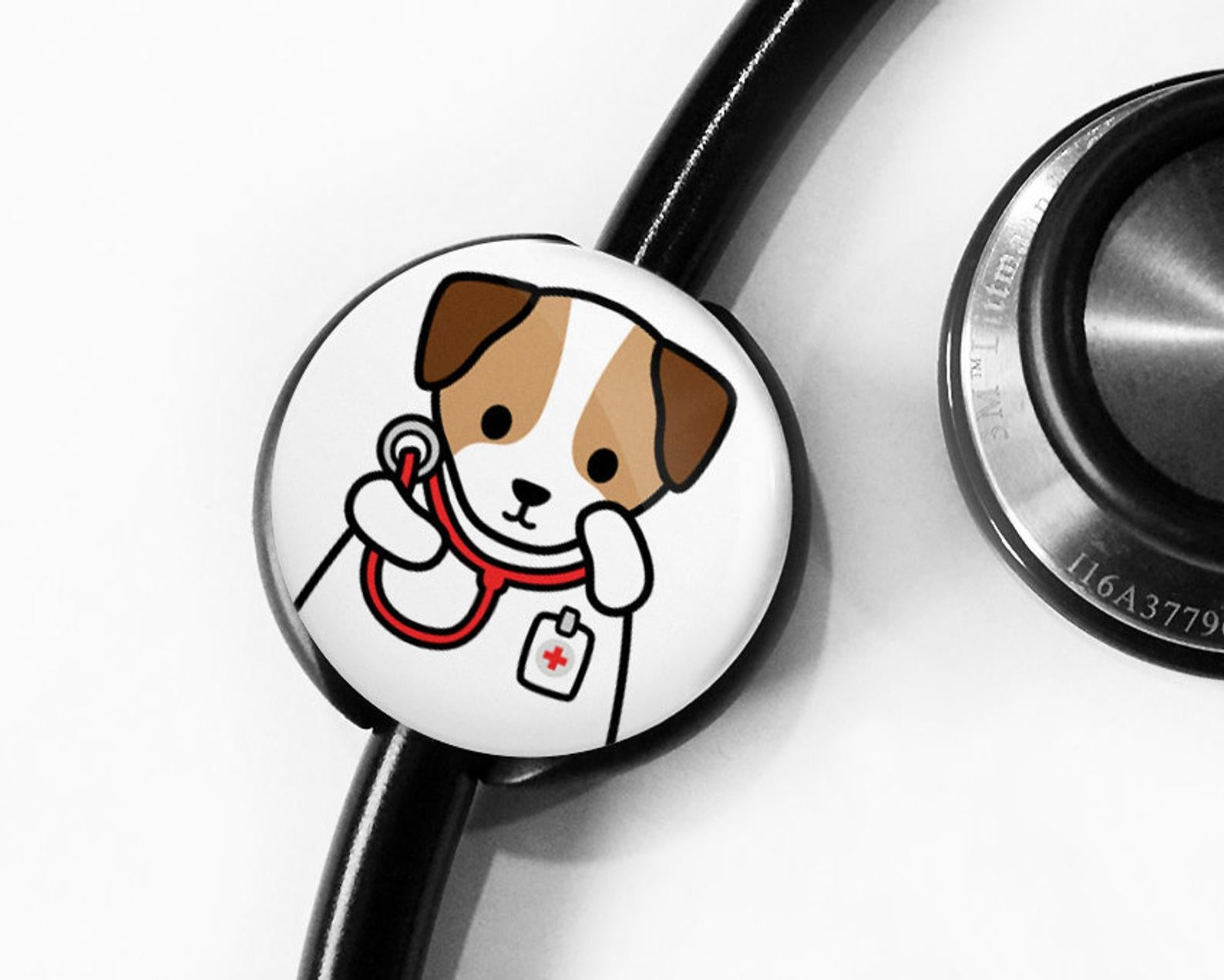 Jack Russell Terrier Stethoscope Tag