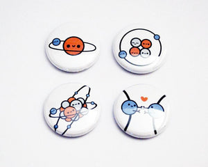 Button Set, Magnet Set, Chemistry Gift, Biology Gift, Atoms - roocharms
