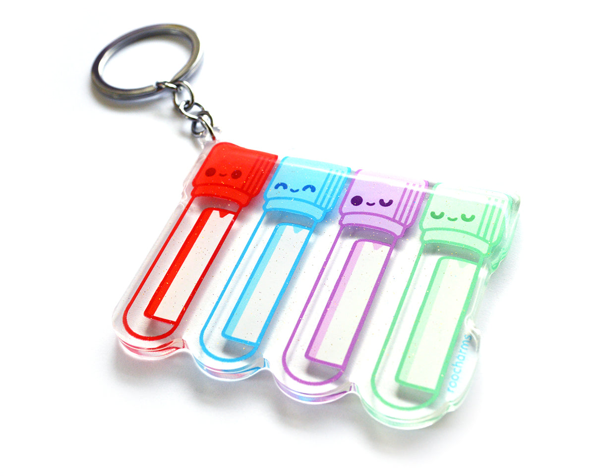 Blood Tubes Keychain