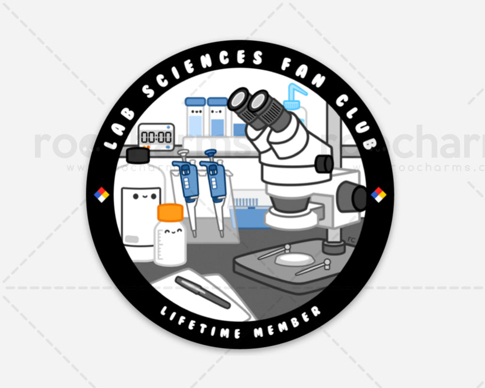 Lab Sciences Fan Club Vinyl Sticker
